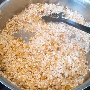 Rijst aanbakken
