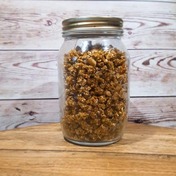 Homemade kruidige granola