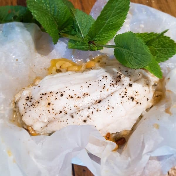 Pesce al Cartoccio - Vis in een papieren pakketje