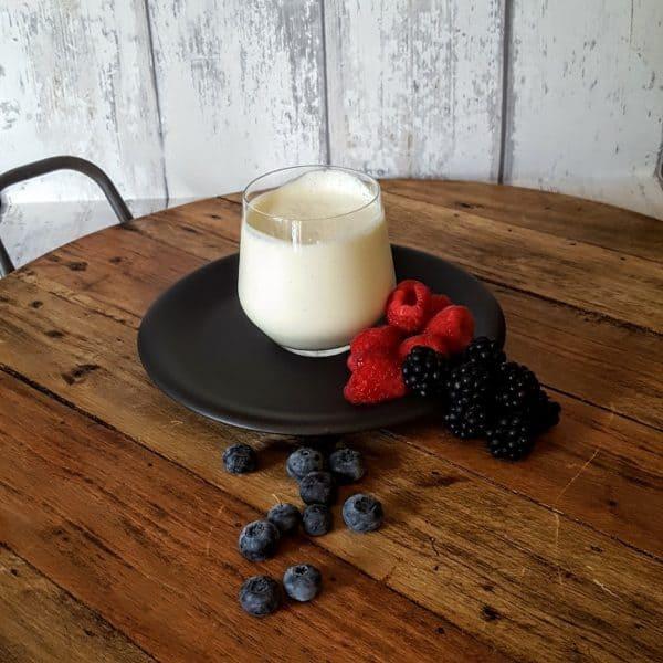 Puddinkjes van karnemelk - zoetzuur dessert