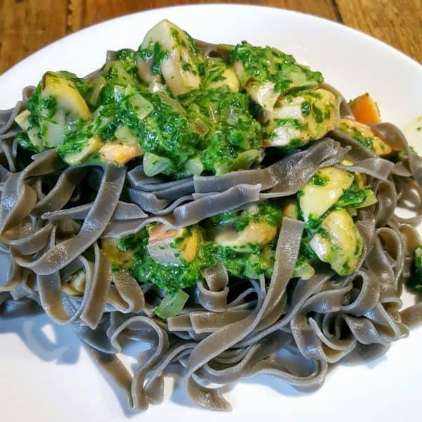 Tagliatelle met spinazie en zalm - snel & makkelijk