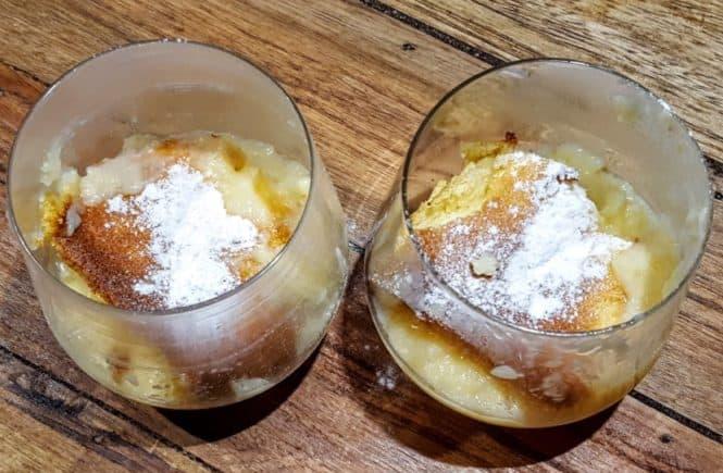 Citroenmousse in een glas