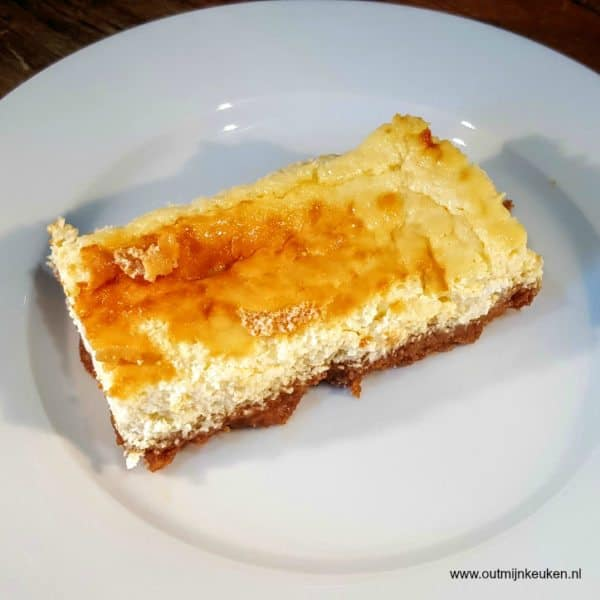 Cheesecake met yoghurt en citroen