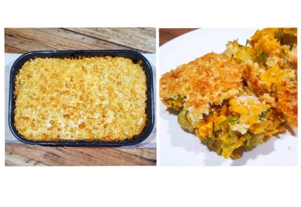 Testrecept: spruitjesgratin met zoete aardappel