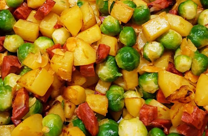 Spruitjes met dille en chorizo