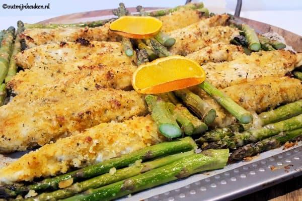 met kip krokante kip met asperges
