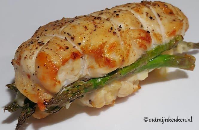 kipfilet gevuld met groene asperges en cheddar