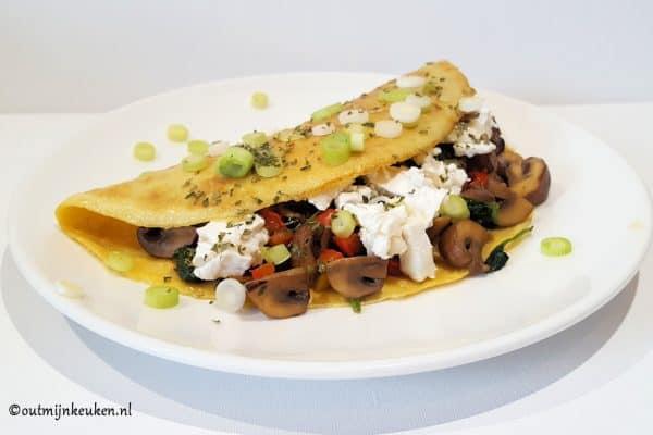hoofdgerechten vegetarisch lunch omelet
