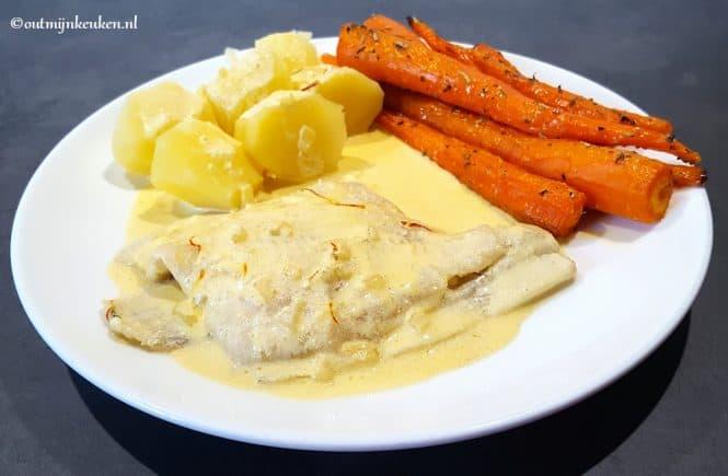 hoofdgerechten vis recept schol saffraansaus