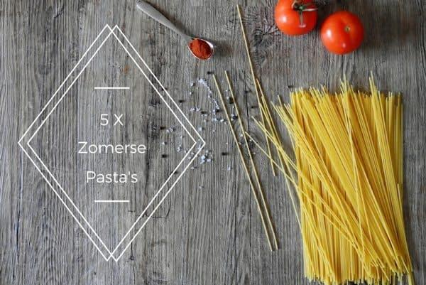 overzicht 5 x zomerse pasta