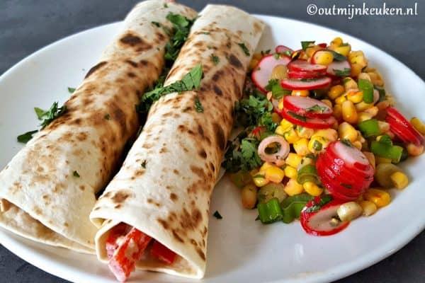 Tonijn Wraps met Mexicaanse salade