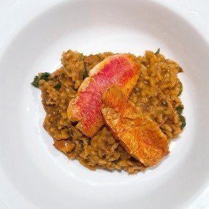 hoofdgerechten vis Hoofdgerechten rijst Risotto met porcini en rode mul