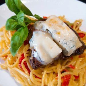 hoofdgerechten pasta met biefstuk