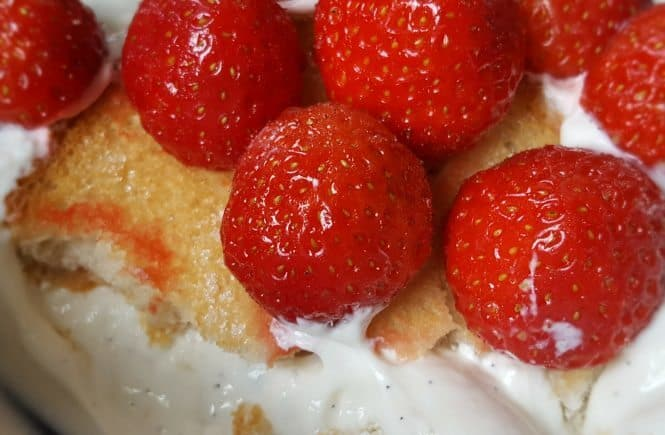 recept hangop met beschuit en aardbeien