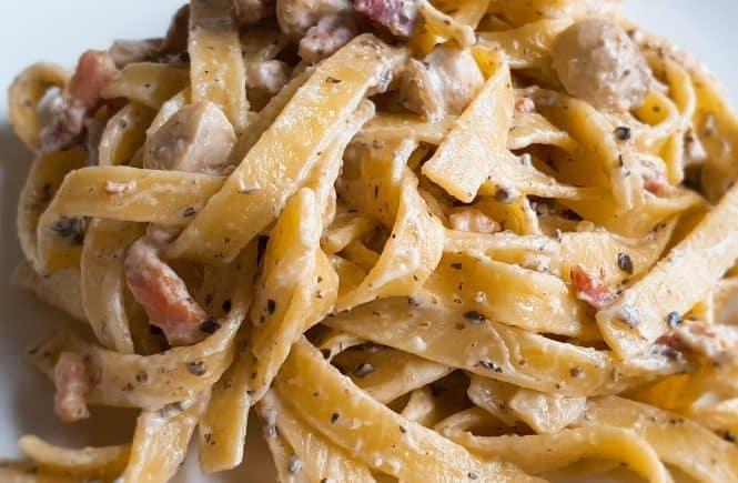 hoofdgerechten pasta mascarpone truffelsaus