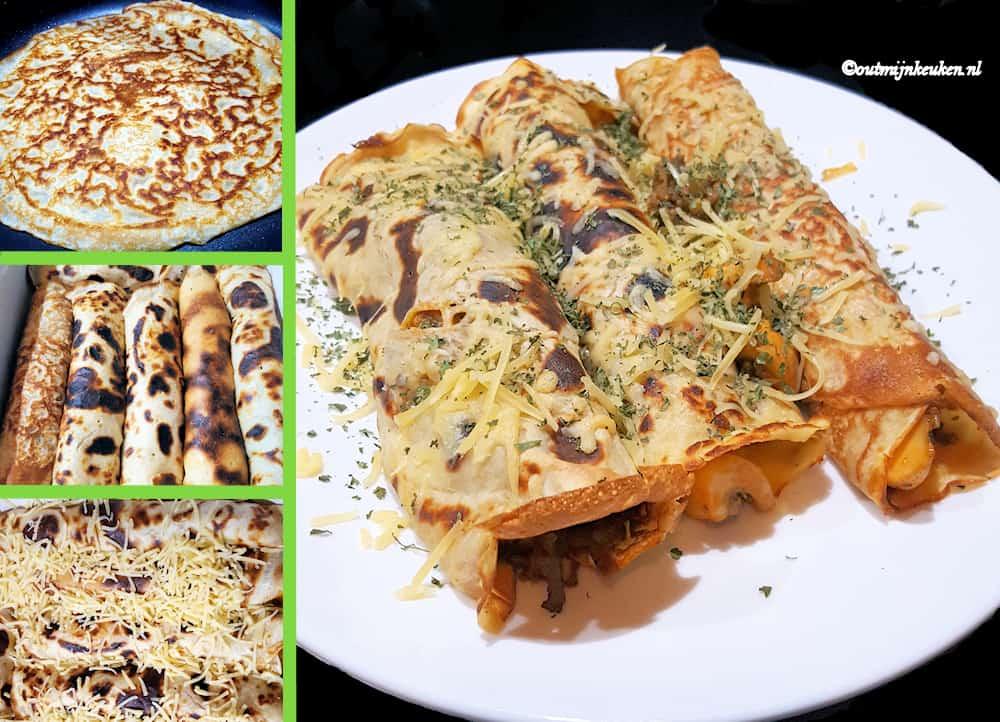 New Recept | Hartige pannenkoeken met groente en kaas | Out mijn keuken &QH76