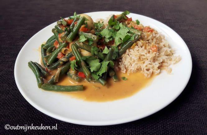 Recept Vegetarische stoofpot met Thaise smaken