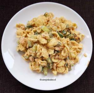 Recept pasta met zalm en komkommer