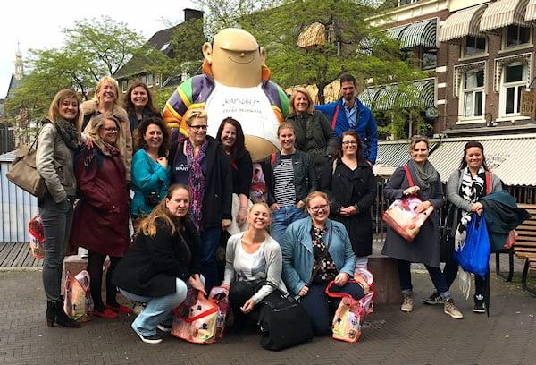 Foodbloggers tour Den Haag groepsfoto