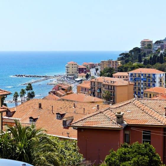 Uitzicht op zee, Imperia, Ligurië, Italië