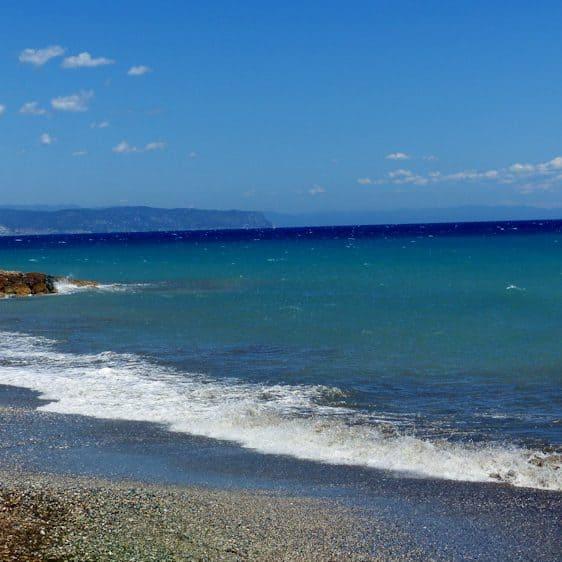 Middellandse Zee; Albenga, Ligurië, Italië