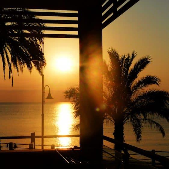Early Morning View vanaf het balkon