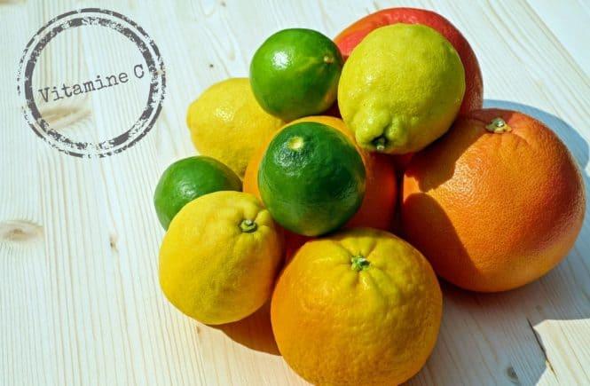 Vitamine C achtergrond