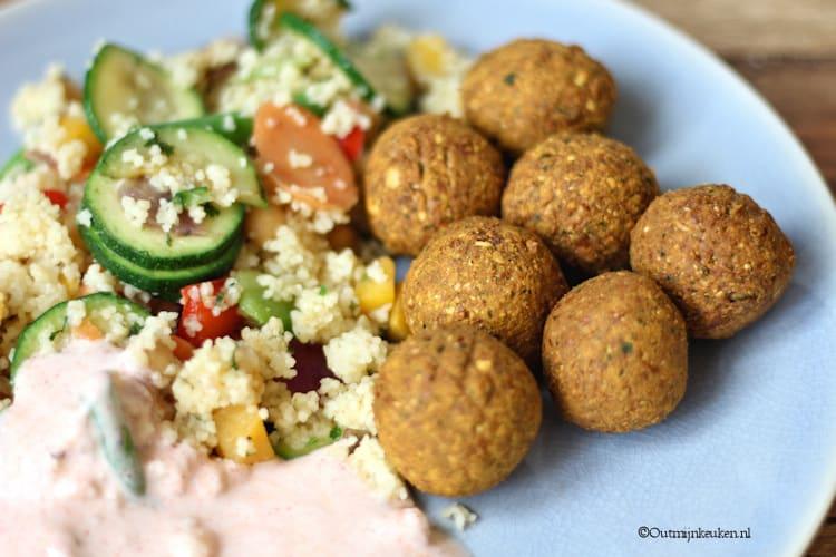 Falafel met couscous recept