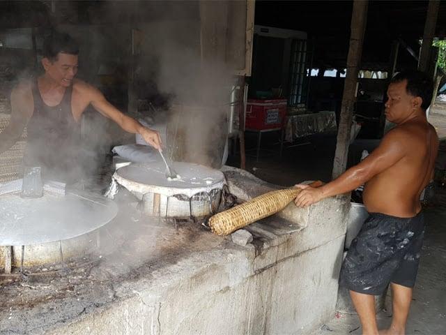 Hoe worden rijstvellen gemaakt?