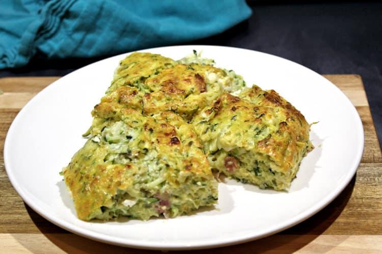 frittata met courgette en 3 soorten kaas